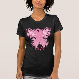 Rosa Band-Liebe-Flügel T-Shirt