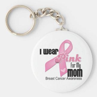 Rosa Band-Mamma-Brustkrebs Standard Runder Schlüsselanhänger