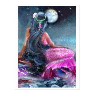 Rosa Band-Meerjungfrau-Postkarte Postkarte