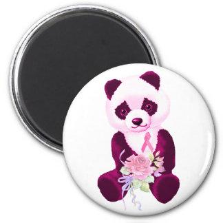 Rosa Band-Panda-Bär Runder Magnet 5,7 Cm