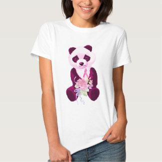 Rosa Band-Panda-Bär T Shirts