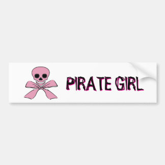 Rosa Band-Piratenflagge-Piraten-Mädchen-Aufkleber Autoaufkleber