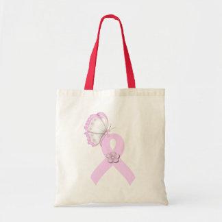 Rosa Band-Schmetterling Taschen