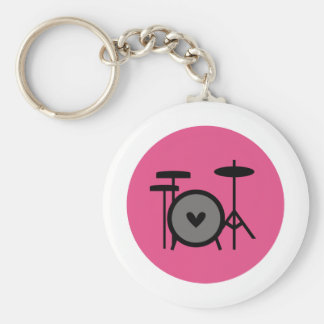 rosa Band (Trommel) Standard Runder Schlüsselanhänger