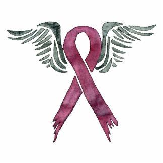 rosa Band und Flügel sculputr keychain Foto Ausschnitte