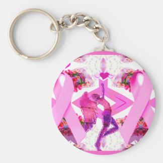 Rosa Bänder der Liebe u. des Hope_ Schlüsselanhänger