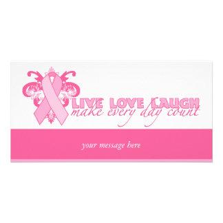 Rosa Bänder jeden Tag Photokarten