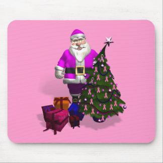 Rosa Bänder Weihnachtsmanns Mousepad