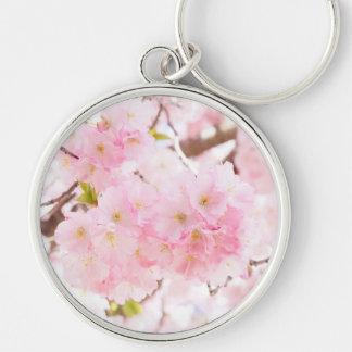 Rosa Baum-Kirschblüte Schlüsselanhänger