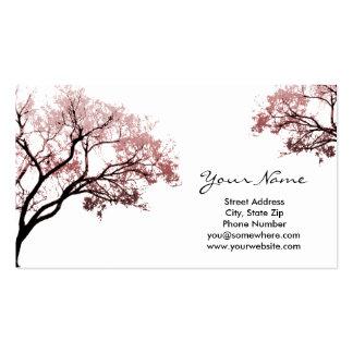 Rosa Baum-Visitenkarten Visitenkarten