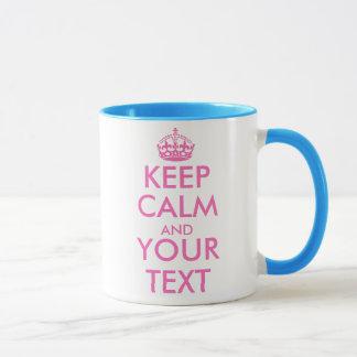Rosa behalten ruhigen Tassenschablonenentwurf | Tasse