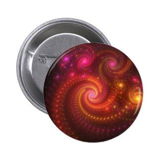 Rosa beleuchtet Fraktal Runder Button 5,7 Cm