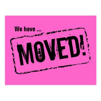 Rosa bewegliche Postkarten für Ihre neue Zuhausead