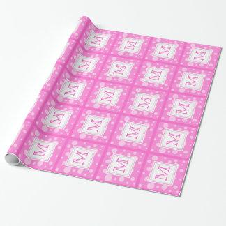 Rosa Blasen: Monogramm-Packpapier Geschenkpapier