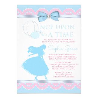 Rosa blaue Aschenputtel-Geburtstags-Party 11,4 X 15,9 Cm Einladungskarte