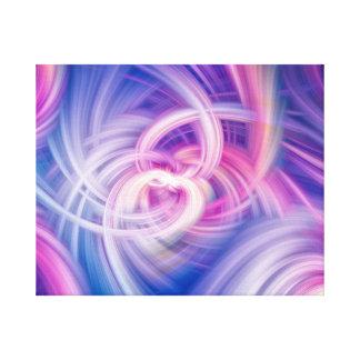 Rosa, blaue und lila Wandkunst des Strudels und Leinwanddruck