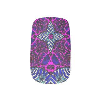 Rosa blauer Zebra abstrakt Minx Nagelkunst
