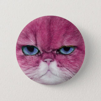 ROSA BLICK-KATZENAUGEN CAT HEFTIGE, SPASSrosa CAT Runder Button 5,1 Cm