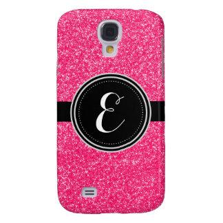 Rosa Bling Glitter-personalisierter Fall Galaxy S4 Hülle