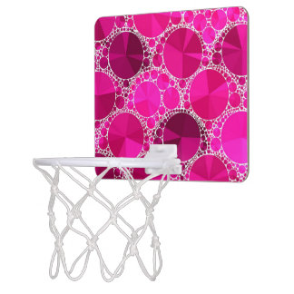 Rosa Bling Mini Basketball Ring
