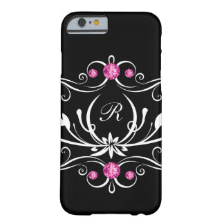 Rosa Bling Monogramm Barely There iPhone 6 Hülle