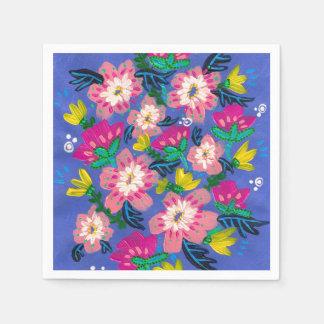 Rosa blüht Cocktail-Papierservietten Papierserviette