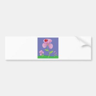 Rosa Blume Autoaufkleber