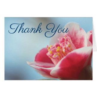 Rosa Blume Camelia danken Ihnen Anmerkungen Karte