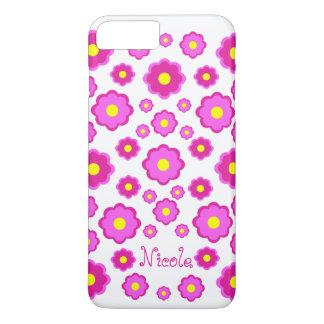 rosa Blume iPhone 8 Plus/7 Plus Hülle