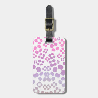 Rosa Blume Ombre Muster - kleiner Blumen-Druck Kofferanhänger