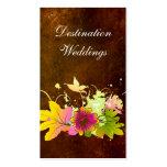 Rosa Blume tropischer Hochzeits-Planer-Vintage Visitenkartenvorlage