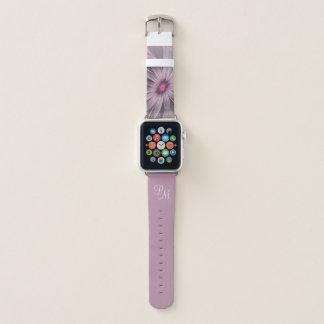 Rosa Blume wartete ein Bienen-abstraktes Monogramm Apple Watch Armband