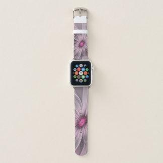 Rosa Blume wartete eine Bienen-abstrakte Apple Watch Armband