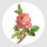 Rosa Blumen-Aufkleber