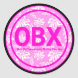 Rosa Blumen-Aufkleber OBX äußere Banken NC