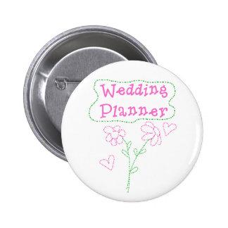 Rosa Blumen, die Planer Wedding sind Runder Button 5,1 Cm