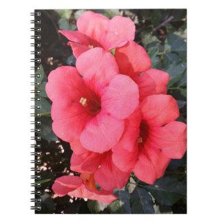 Rosa Blumen-Foto-Notizbuch Notizblock