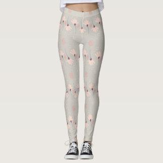 Rosa Blumen-Gamaschen Leggings