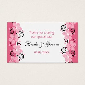 Rosa Blumen-Gastgeschenk Visitenkarten
