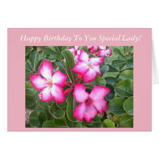 Rosa Blumen-Geburtstags-Karte Karte