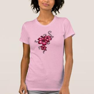 Rosa Blumen Hemden