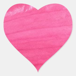 Rosa Blumen-Herz-Aufkleber Herz-Aufkleber