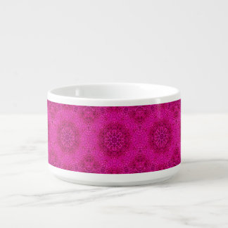 Rosa Blumen-Kaleidoskop-   Chili-Schüsseln Kleine Suppentasse