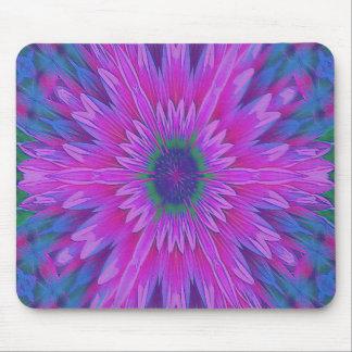 Rosa Blumen-Kaleidoskop-Mausunterlage Mousepad