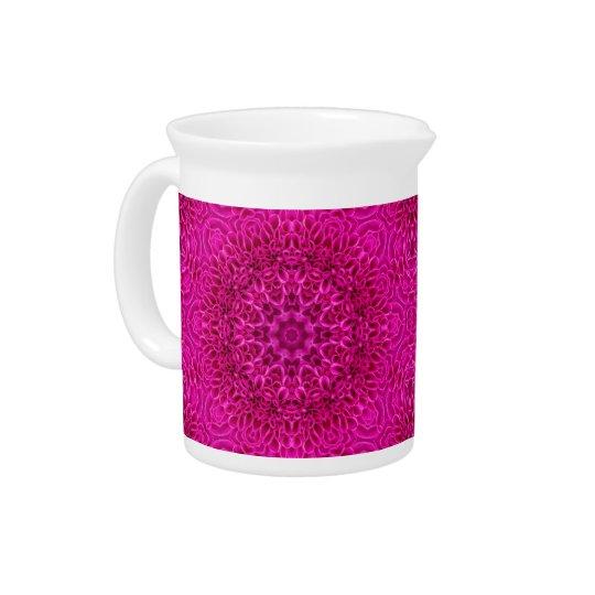 Rosa Blumen-Kaleidoskop-   Porzellan-Krüge Krug
