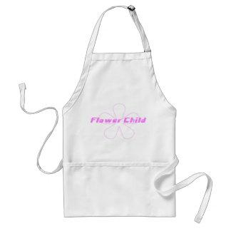 Rosa Blumen-Kind Schürze