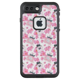 Rosa Blumen-Mode Parfume LifeProof FRÄ' iPhone 8 Plus/7 Plus Hülle