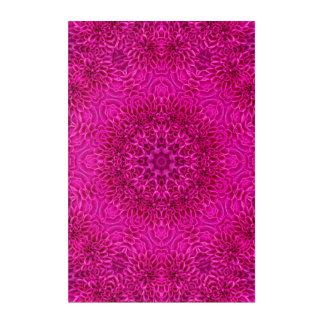 """Rosa Blumen-Muster-Acrylwand-Kunst, 24"""" x 6"""" Acryl Wandkunst"""