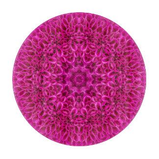 Rosa Blumen-Muster-Glasschneiden-Bretter, 5 Arten Schneidebrett