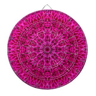 Rosa Blumen-Muster-MetallkäfigDartboard Dartscheibe